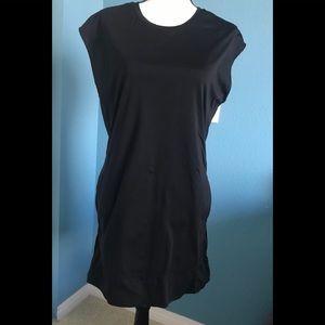 Helmut Lang Stretchy Black Dress with Pockets!
